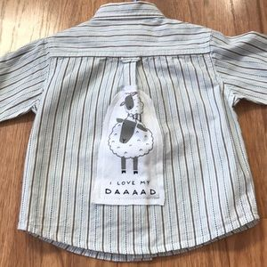 I Love Dad Upcycled Janie & Jack Button Down